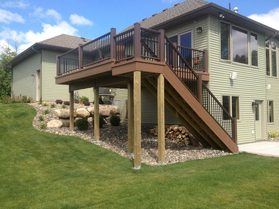 Constructive builders for Second story deck plans pictures